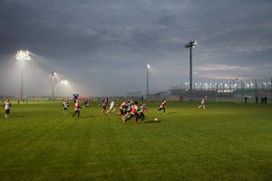 Oświetlenie boiska treningowe KGHM Zagłębie Lubin oprawami DISANO