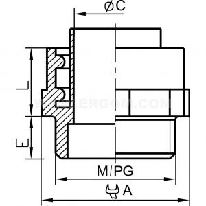 Łącznik rury typu WD; WD...M do rur ochronnych WTG