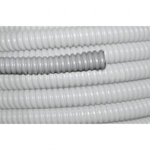 Rura elastyczna ochronna wykonana ze stali ocynkowanej pokryta płaszczem z PCV typu WOT
