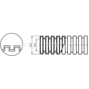 Rura ochronna korugowana wykonana z poliamidu – ruchowa typu WTE...R